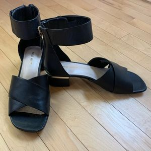 Nine West Black Sandals - only worn once!